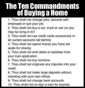 ten commandments to buy homme